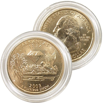 2003 Arkansas 24 Karat Gold Quarter - Denver