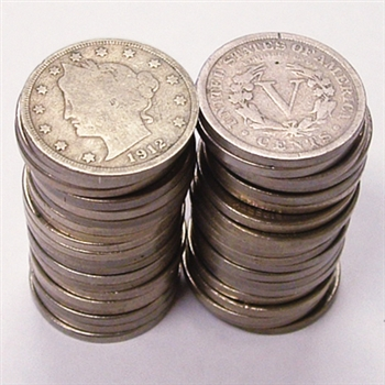 Liberty Nickel Roll of 40 - Circulated