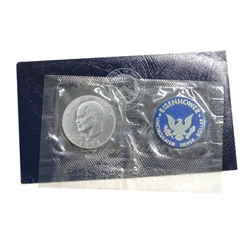 1971 Eisenhower Dollar - San Francisco - Silver - Blue Pack
