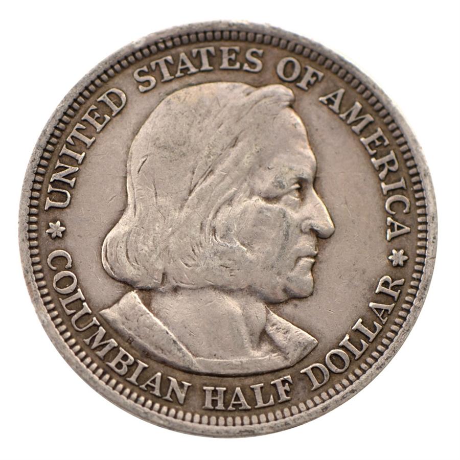 1892 Columbus Commemorative Half Dollar Circulated