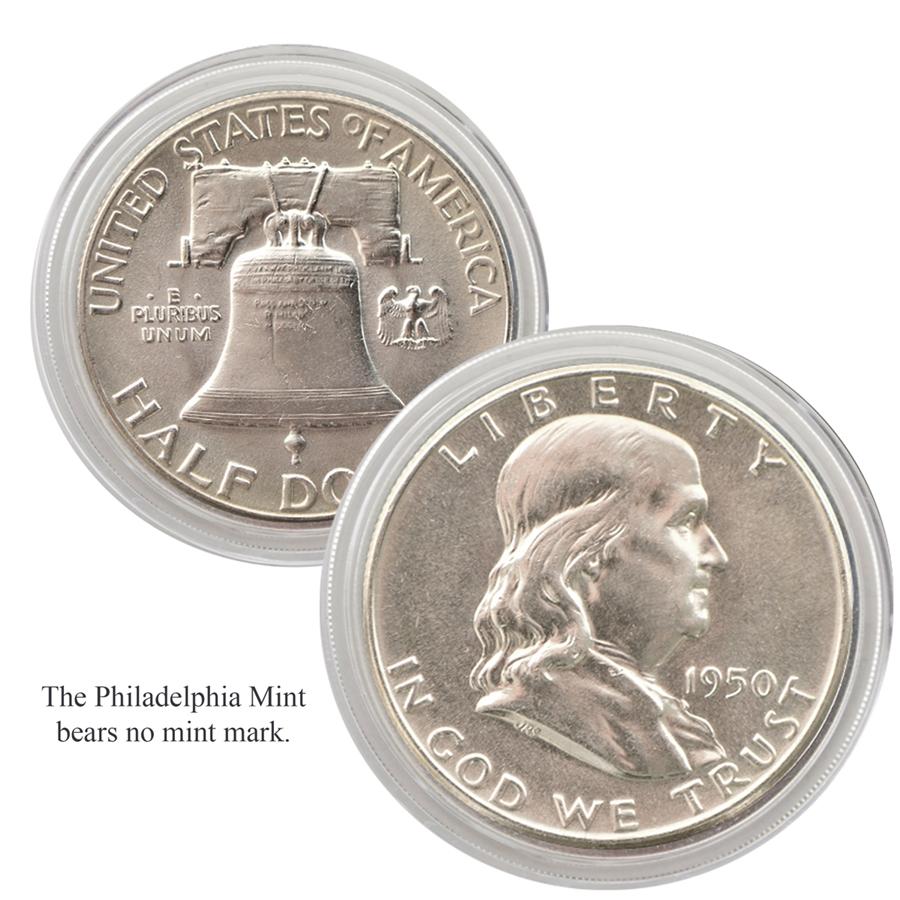 1950 Franklin Half Dollar Philadelphia Uncirculated