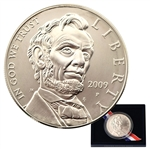 2009 Lincoln Commemorative Silver Dollar - Uncirculated