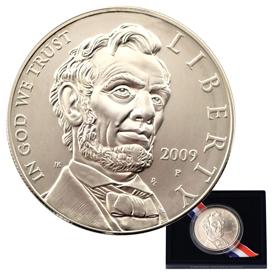 2009 Lincoln Commemorative Silver Dollar Uncirculated