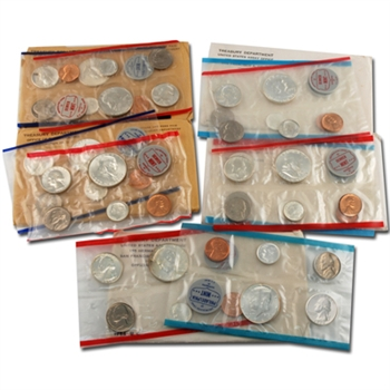 Last 5 Years of Silver Mint Sets - 1960 to 1964