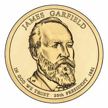 2011James A. Garfield Presidential Dollar - Gold -Philadelphia