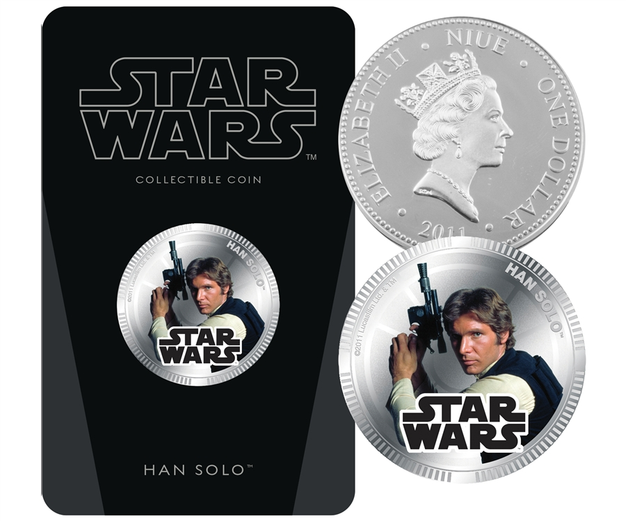 2011 Star Wars Silver Plated Han Solo Coin