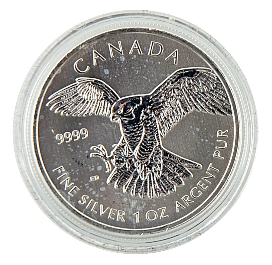 2014 Canadian Peregrine Falcon 5 Silver Uncirculated