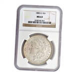 1883 Morgan Silver Dollar - New Orleans ( O ) - Certified 63