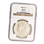 1898 Morgan Silver Dollar - New Orleans ( O ) - NGC MS63