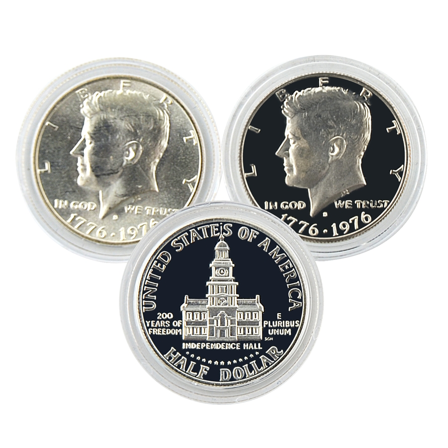1976 Kennedy Half Dollar Bicentennial Pair Proof And