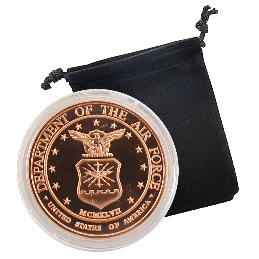 United States Air Force Commemorative Coin 1oz Copper
