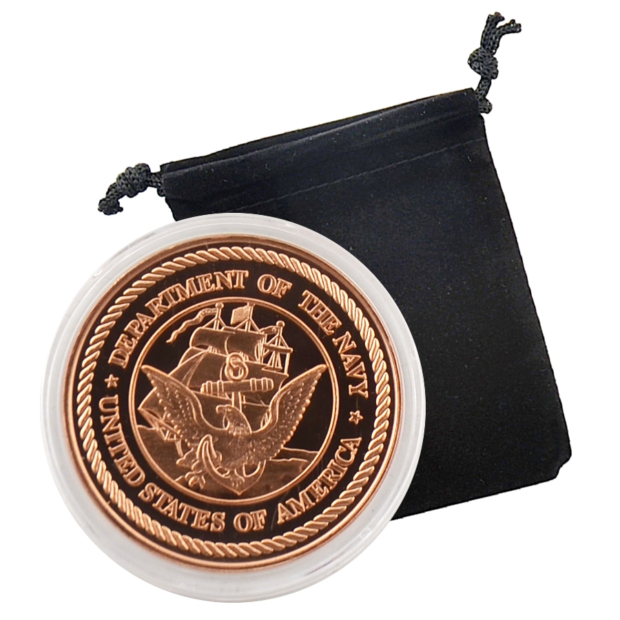 United States Navy Commemorative Coin 1oz Copper