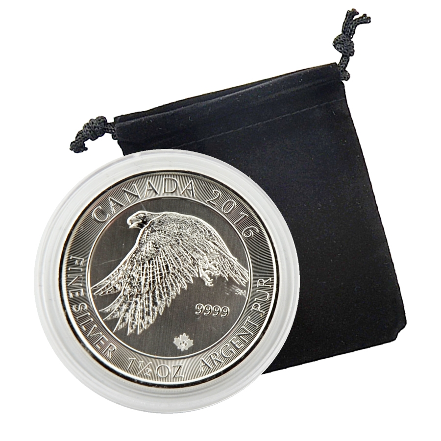 2016 Canadian 8 Silver Snow Falcon 1 5 Ounces