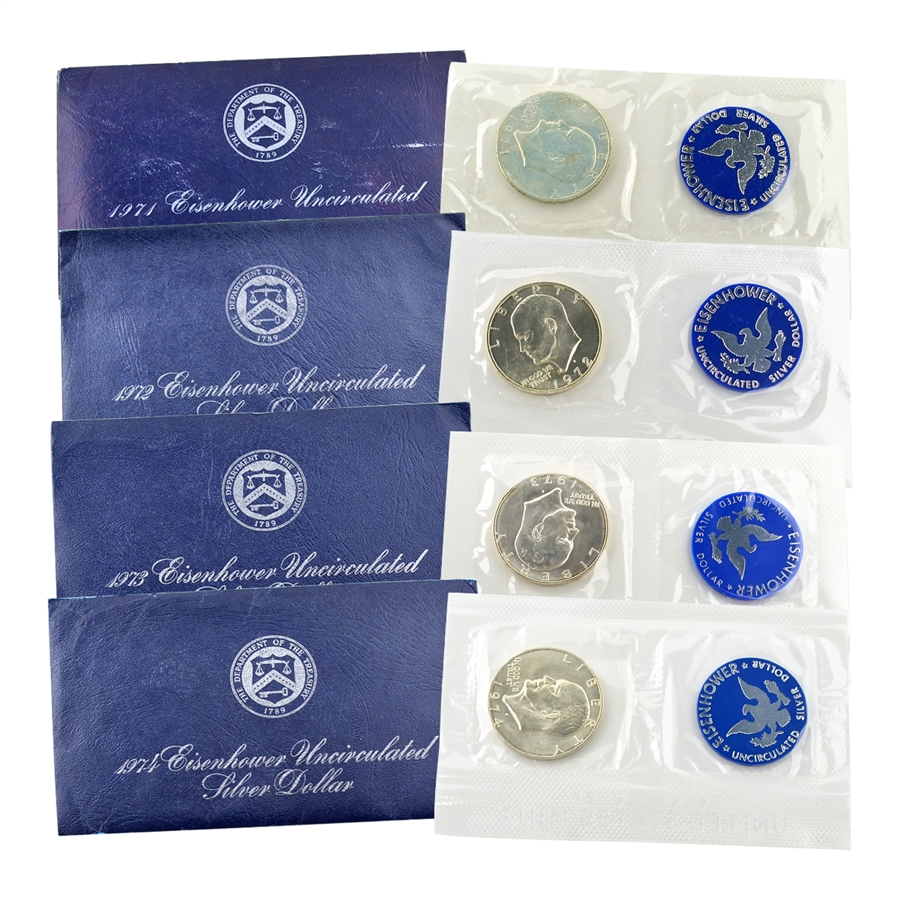 Eisenhower Dollar Silver Blue Pack