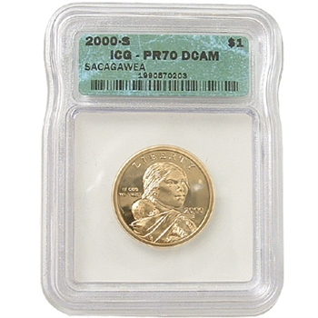 2000 Sacagawea Dollar Proof Ct 70 - San Francisco Mint ICG