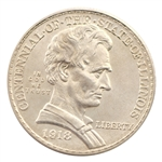 1918 Lincoln Illinois Commemorative Half Dollar - Uncirculated