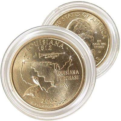 2002 Louisiana 24 Karat Gold Quarter Denver