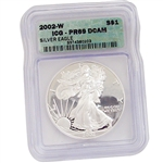 2002 Proof Silver Eagle - Certified 69