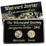 2002 Sacagawea Dollar - Philadelphia & Denver Mint Set