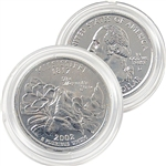 2002 Mississippi Platinum Quarter - Denver Mint