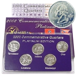 2002 Quarter Mania Uncirculated Set - Platinum D Mint