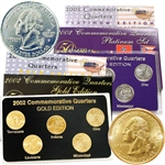 2002 Quarter Mania Precious Metal Set - Gold P / Plat D