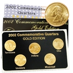 2002 Quarter Mania Uncirculated Set - Gold - D Mint
