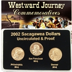 2002 Sacagawea Dollar - P/D/S Mint Set