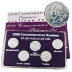 2000 Quarter Mania Uncirculated Set - Plat - P Mint