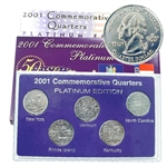 2001 Quarter Mania Uncirculated Set - Plat - P Mint