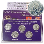 2002 Quarter Mania Uncirculated Set - Plat - P Mint