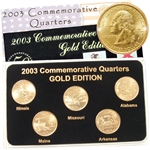 2003 Quarter Mania Uncirculated Set - Gold - P Mint