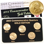 2003 Quarter Mania Uncirculated Set - Gold - D Mint