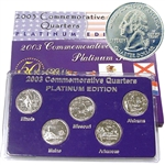 2003 Quarter Mania Uncirculated Set - Platinum D Mint