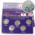 2003 Quarter Mania Uncirculated Set - Plat - P Mint