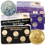 2003 Quarter Mania Precious Metal Set - Gold P / Plat D