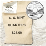 2003 Missouri $25 Government Bag Philadelphia Mint Quarters – Uncirculated