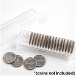 Custom Quarter Tube with Dividers - 24.3 mm - Holds 20 Coins