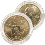 2004 Michigan 24 Karat Gold Quarter - Philadelphia