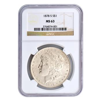 1878 Morgan Silver Dollar - San Francisco - Certified 63