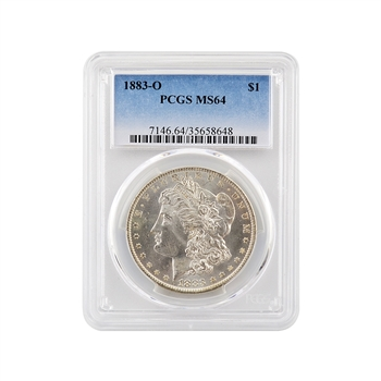 1883 Morgan Dollar - New Orleans - Certified 64