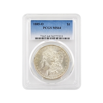 1885 Morgan Silver Dollar - New Orleans - Certified 64