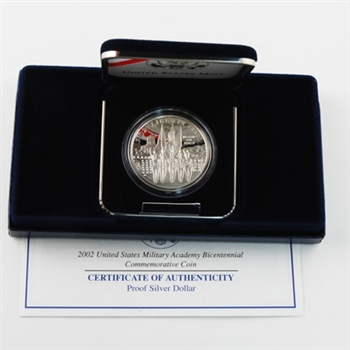 2002 Commemorative West Point Dollar - PROOF