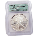 1987 Proof Silver Eagle - Certified 69