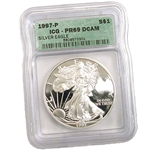 1997 Proof Silver Eagle - Certified 69