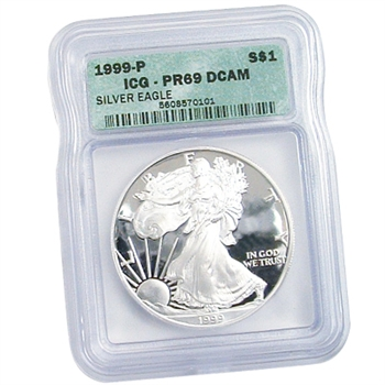 1999 Proof Silver Eagle - Certified 69