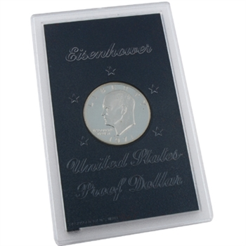 1971 Eisenhower Dollar - San Francisco - Silver Proof - Brown Pack