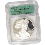 2004 Proof Silver Eagle - Certified 69