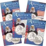 2001 Set of 5 State Quarter Albums