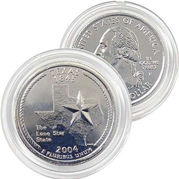 2004 Texas Platinum Quarter - Philadelphia Mint